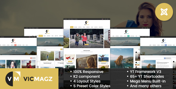 VicMagz - Multipurpose News/Magazine Joomla Template