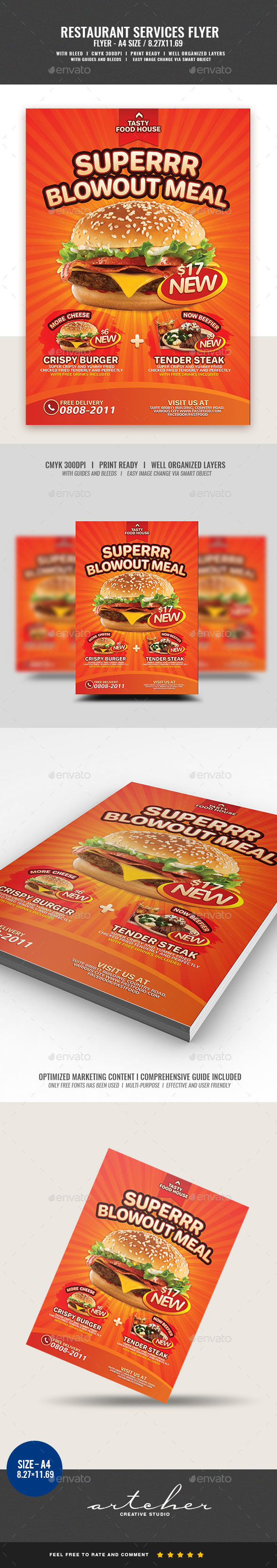 Fast Food Product Introduction - Restaurant Flyers