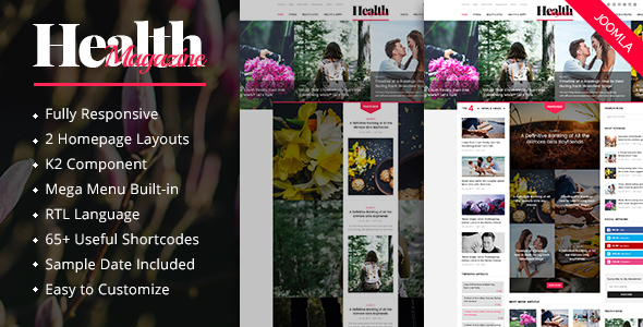 HealthMag - Multipurpose News/Magazine Joomla Template - News / Editorial Blog / Magazine