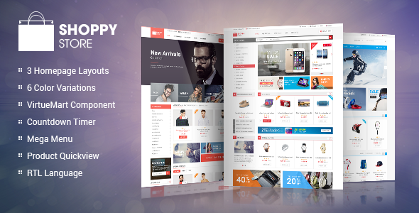 ShoppyStore - Responsive VirtueMart 3 Template - VirtueMart Joomla