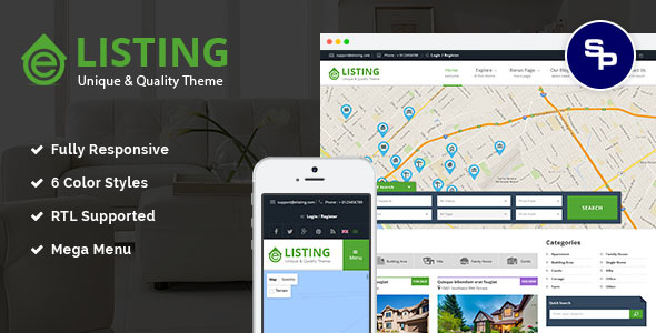 Image of eListing - Responsive Real Estate Joomla Template