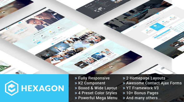 Hexagon - Responsive Multipurpose Business Joomla Template