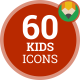 Face Kid Avatar - Flat Animated Icons and Elements