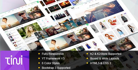 Tini - News/Magazine Template with Online Shop - Blog / Magazine Joomla