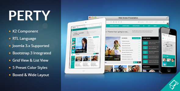 Perty - Responsive News/Magazine Joomla Template - Blog / Magazine Joomla