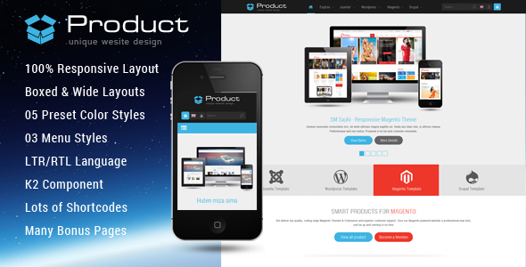 Product - Responsive Business Joomla Template - Business Corporate