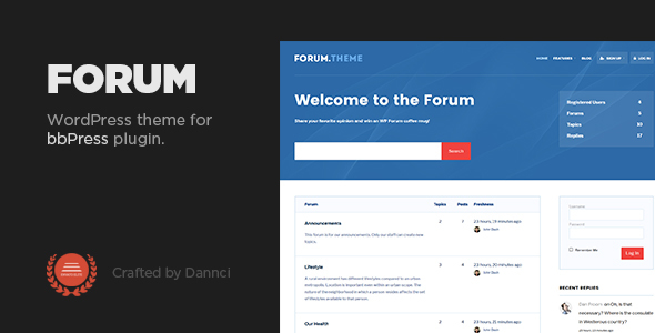 Forum – A responsive theme for bbPress plugin