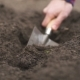 Farmer's Hand Making Grooves for Planting a Plant - VideoHive Item for Sale