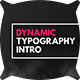 Dynamic Typography Intro - VideoHive Item for Sale