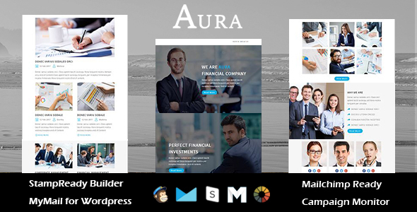 AURA - Multipurpose Responsive Email Templates with Stamp Ready Builder Access