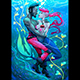 Mermaid with Pirate Under the Water - GraphicRiver Item for Sale