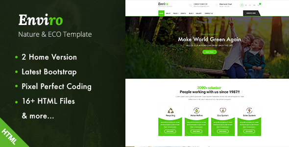 Enviro - Environment / Non-Profit HTML Template - Environmental Nonprofit