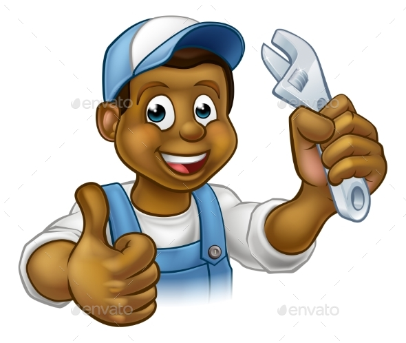 Mechanic or Plumber Handyman - People Characters