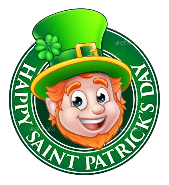 Cartoon St Patricks Day Leprechaun Sign - Miscellaneous Seasons/Holidays