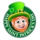Cartoon St Patricks Day Leprechaun Sign