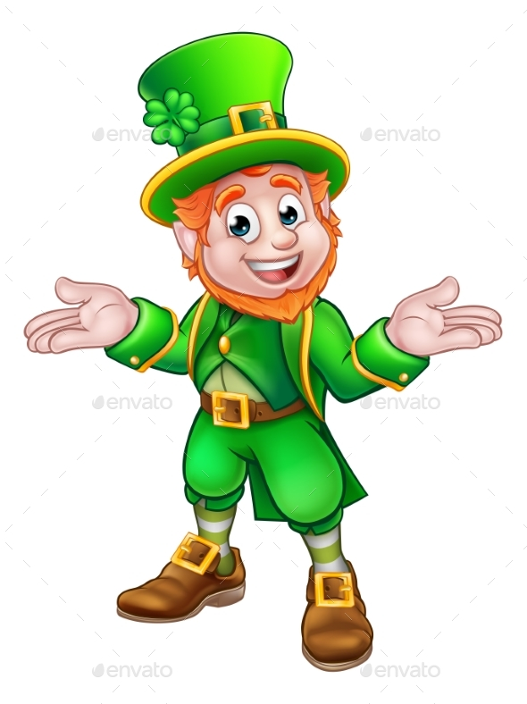 St Patricks Day Cartoon Leprechaun - Miscellaneous Characters