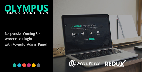 Olympus - Responsive Coming Soon WordPress Plugin - CodeCanyon Item for Sale