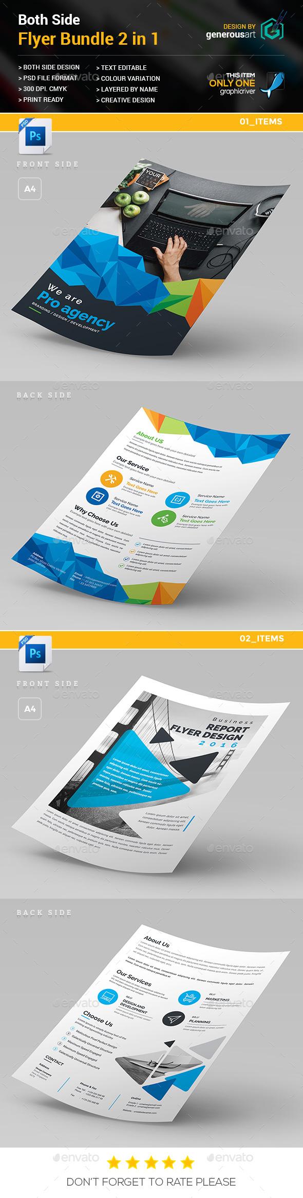 Both Side Flyer Bundle 2 in 1 - Flyers Print Templates