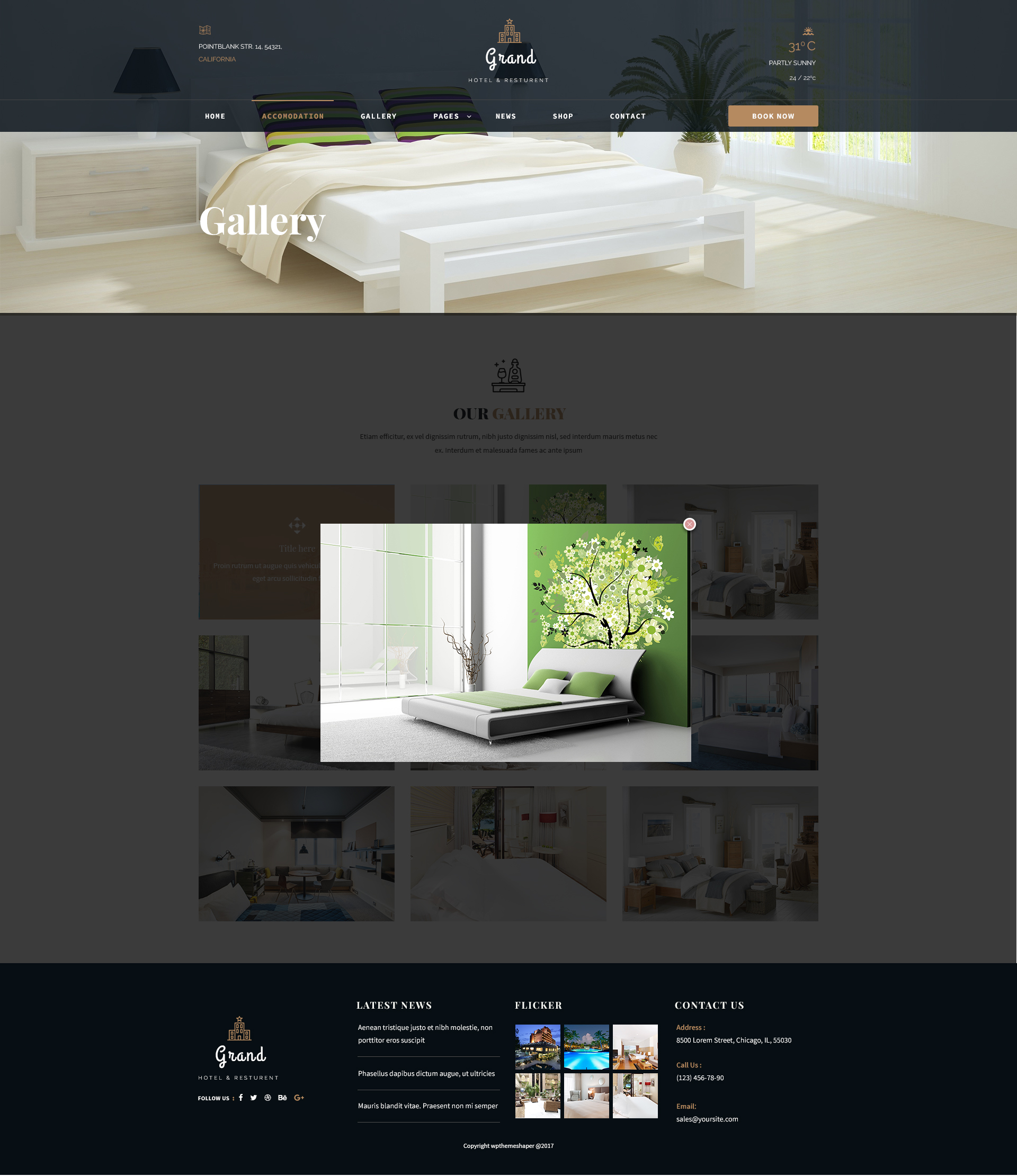 Grand - Hotel & Resturent PSD Template by ThemexLab | ThemeForest