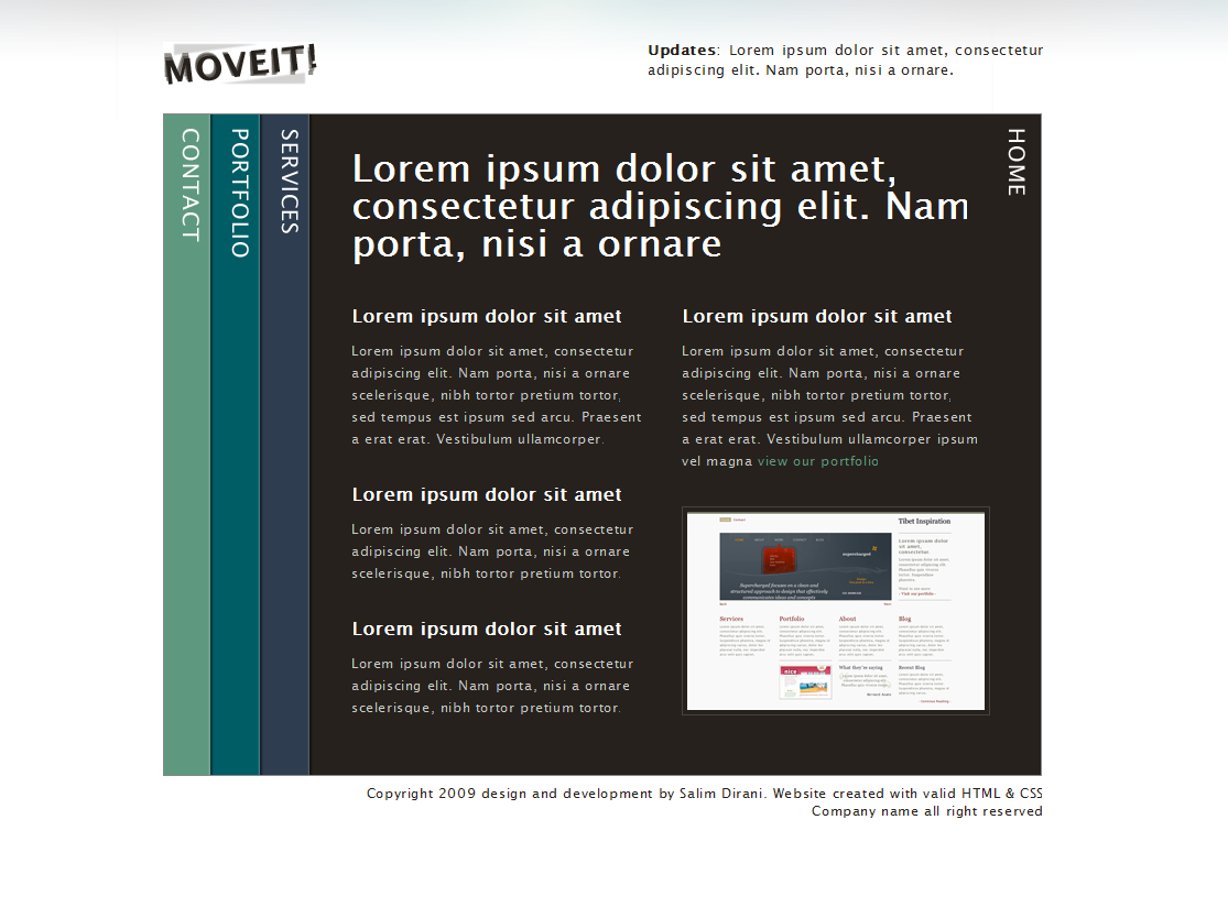 Free Download Moveit - single page creative portfolio Nulled Latest Version