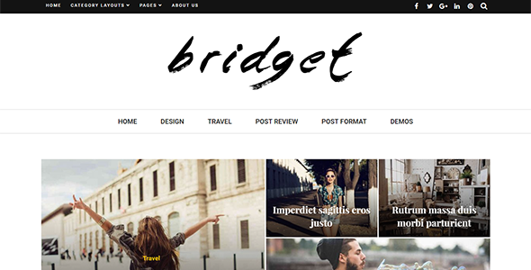 Bridget - Responsive WordPress Magazine and Blog Theme - News / Editorial Blog / Magazine