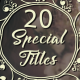 Custom Wedding Titles - VideoHive Item for Sale