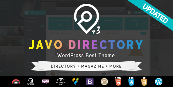 Javo Directory WordPress Theme - Directory & Listings Corporate