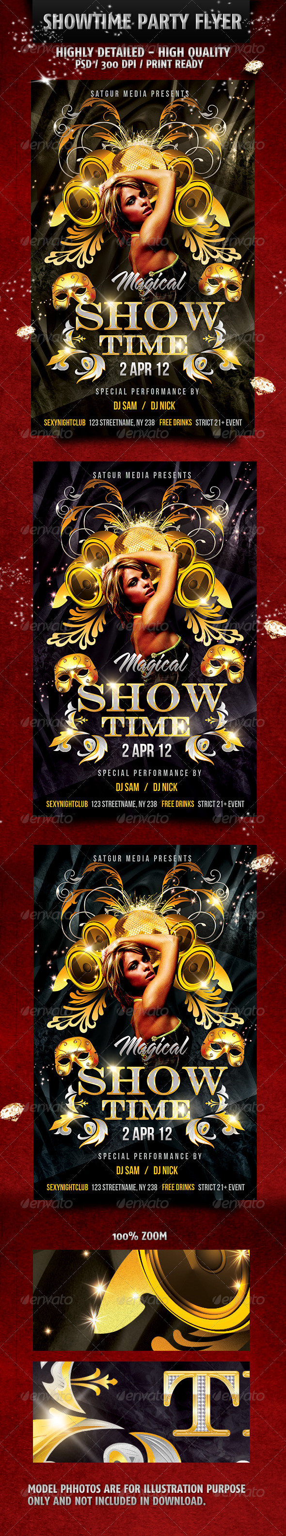 Magical Showtime Music Dance Party Flyer - Flyers Print Templates