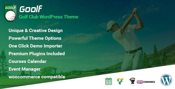 Goolf - Golf Club WordPress Theme