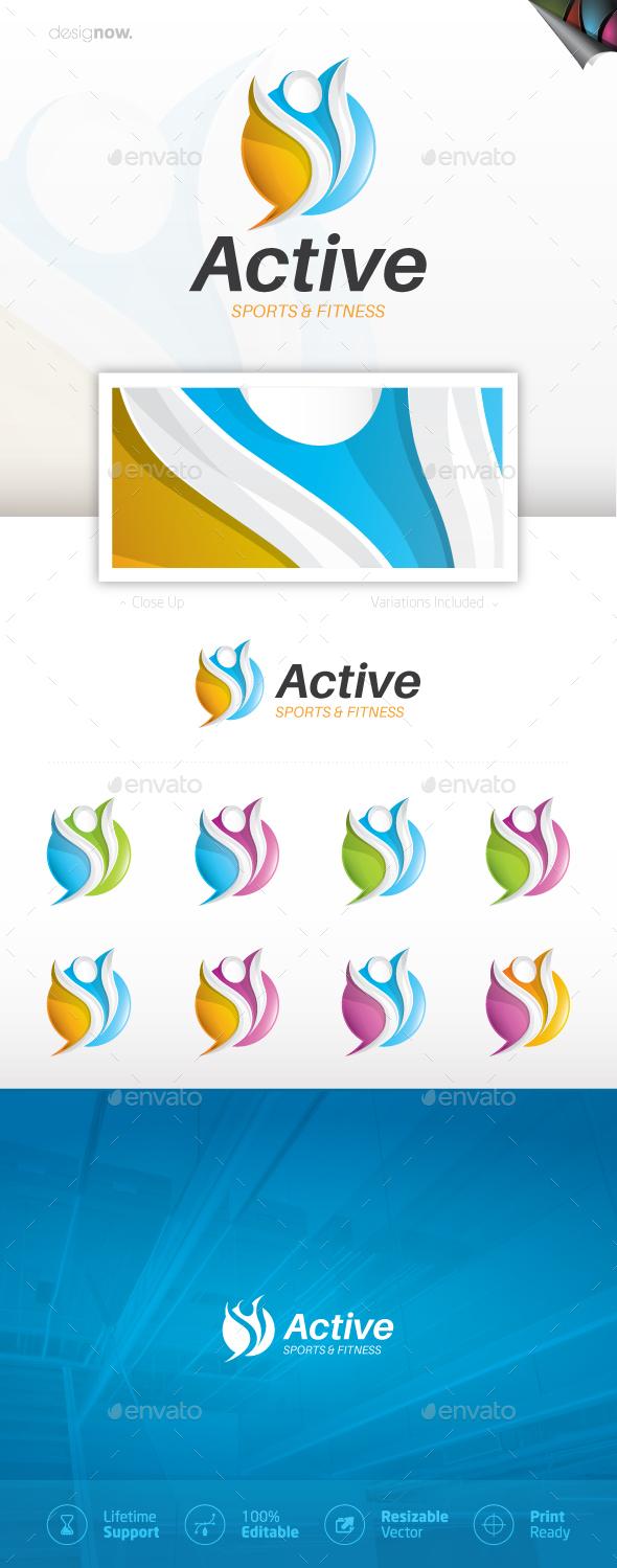 Active Logo - Sports Logo Templates