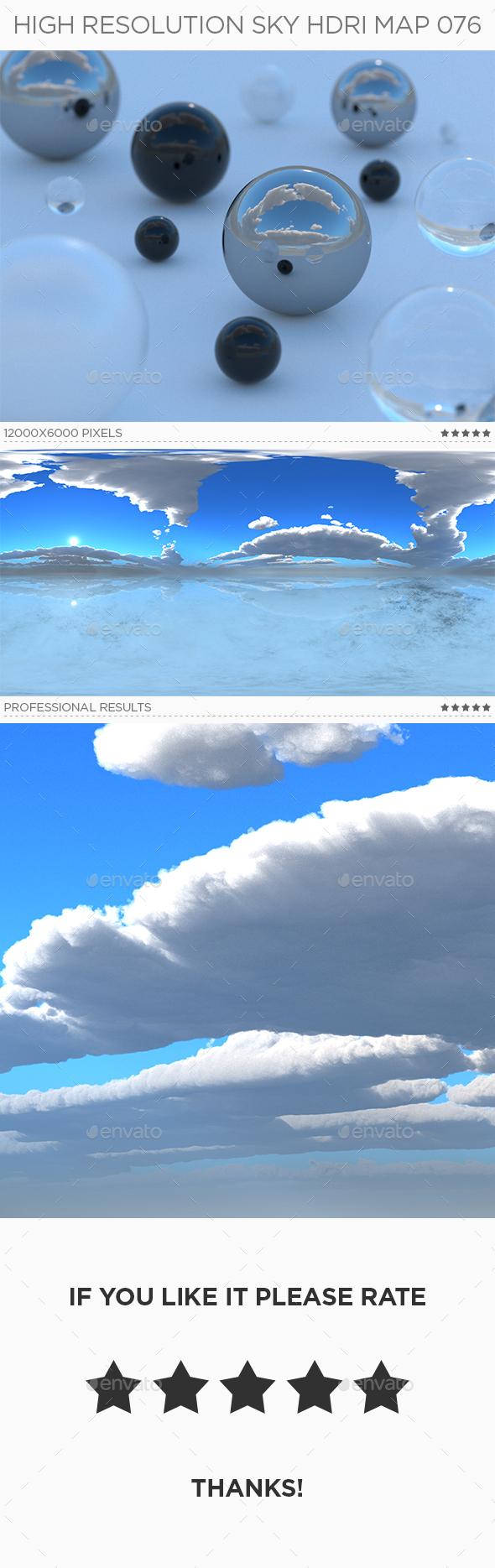 High Resolution Sky HDRi Map 076 - 3DOcean Item for Sale