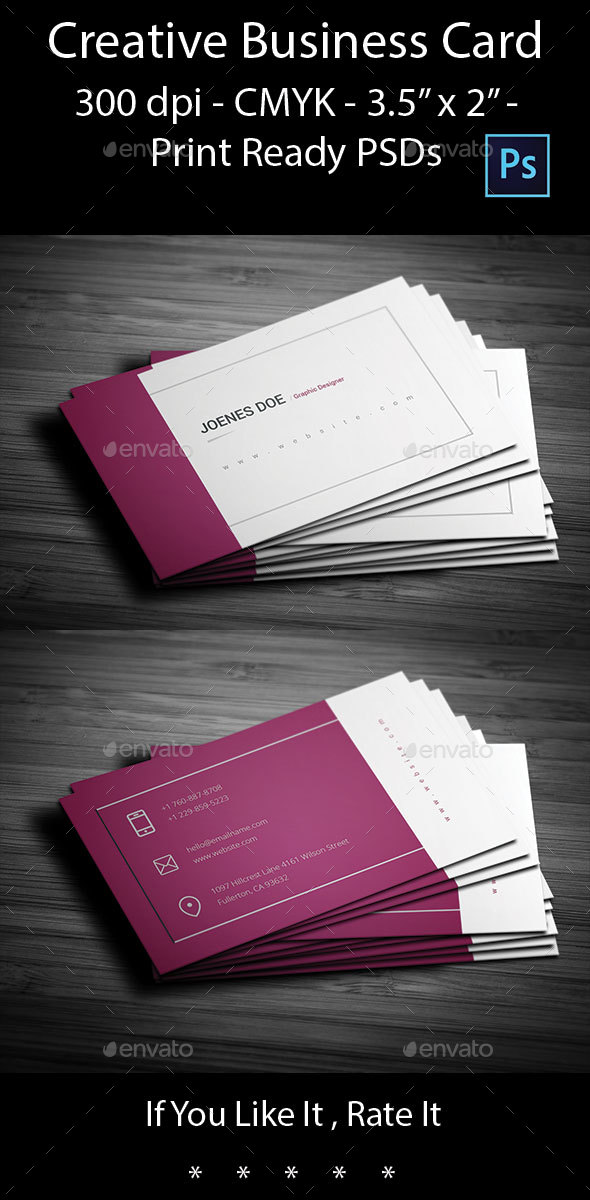 Creative Business Card by arnabkumar | GraphicRiver