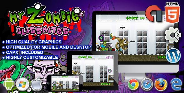 My Zombie Classmates - HTML5 Construct Game - CodeCanyon Item for Sale