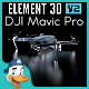 DJI Mavic Pro for Element 3D - 3DOcean Item for Sale