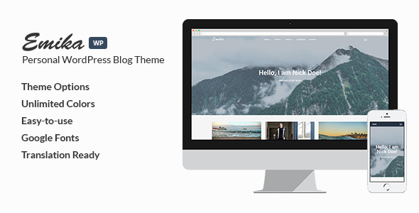 Emika – Personal WordPress Blog Theme
