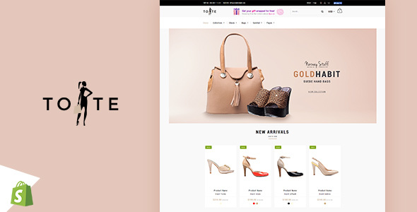 Image of Tote | Shoes and Bags Shopify theme