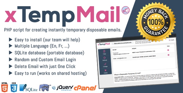 xTempMail - Temporary, Disposable Mail - CodeCanyon Item for Sale
