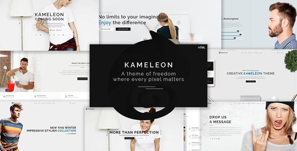 Kameleon | Responsive Creative HTML Template - Creative Site Templates