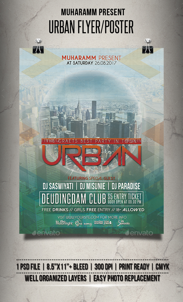 Urban Flyer / Poster - Clubs & Parties Events