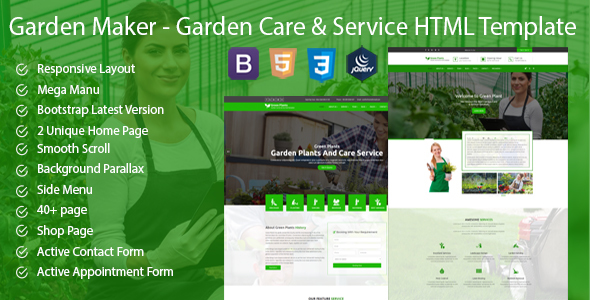 Green Plants – Garden Care & Service HTML5 Template