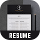 Resume - Dominic - - GraphicRiver Item for Sale