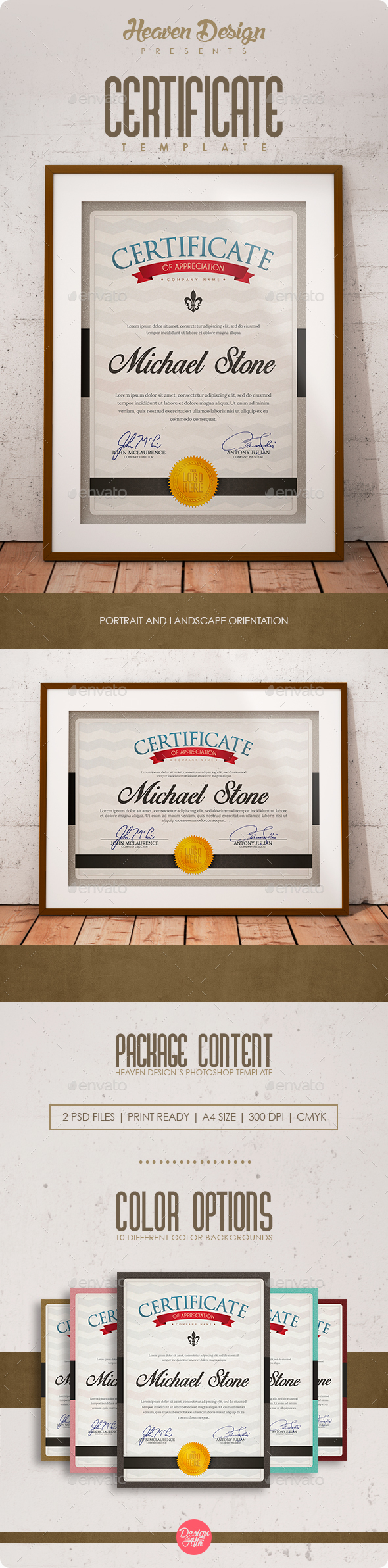 Certificates | Template - Certificates Stationery