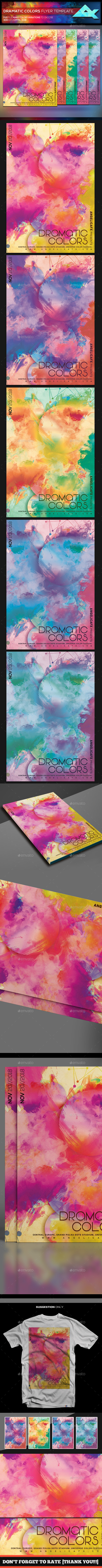 Dramatic Colors Flyer Template - Events Flyers