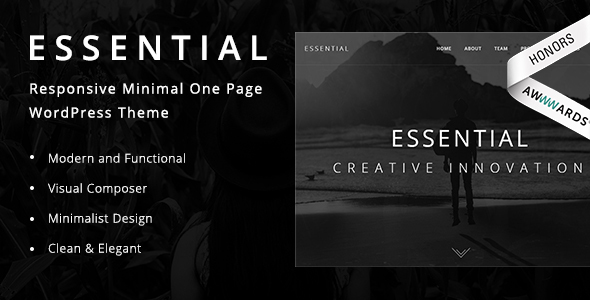 Essential - Responsive Minimal One Page WordPress Theme