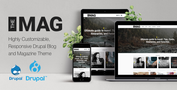 TheMAG – Highly Customizable, Drupal 7 and Drupal 8 Blog and Magazine Theme