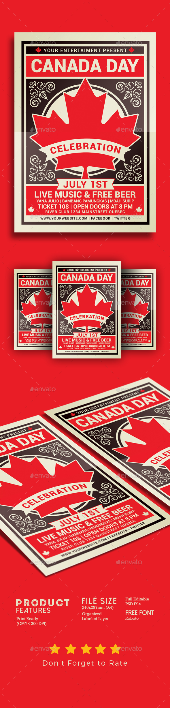 Canada Day Flyer Template - Events Flyers