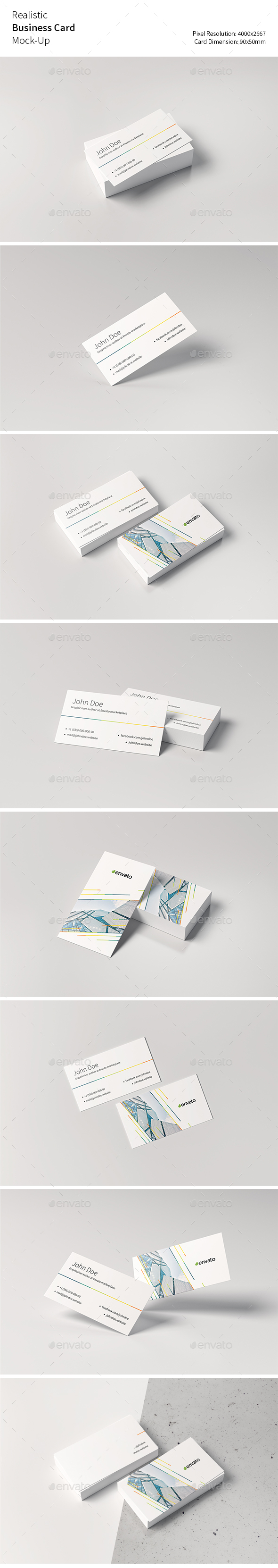 Realistic Business Card Mock Up by Jakiv