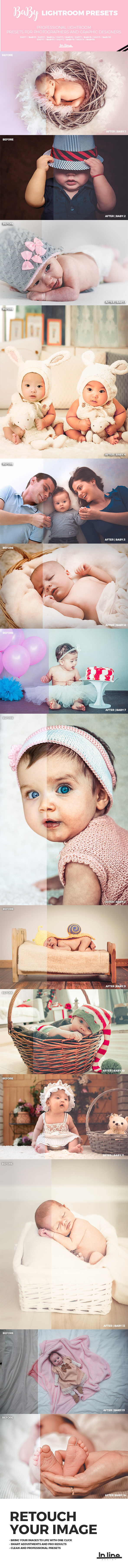 15 Baby Lightroom Presets - Portrait Lightroom Presets