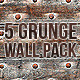 5 Grunge Wall Textures Pack - GraphicRiver Item for Sale