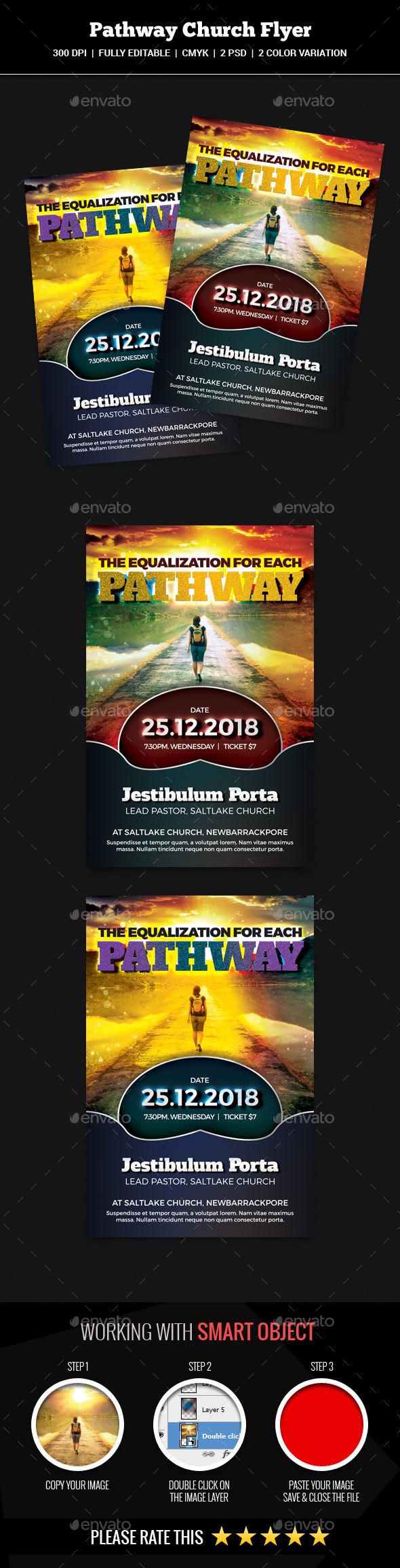 Pathway Church Flyer - Church Flyers